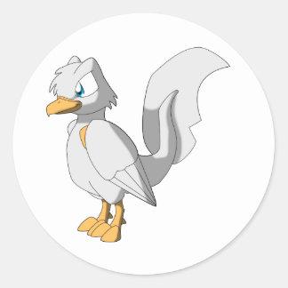 Koi Reptilianfågel - platina Ogon Runt Klistermärke