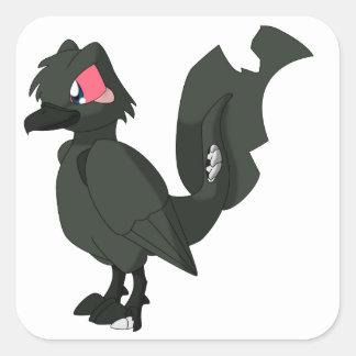 Koi Reptilianfågel - Zombie Karasugoi Fyrkantigt Klistermärke