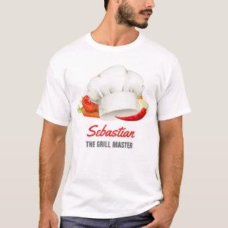 Kök för den personligt-skjortan kocken grillar t-shirts