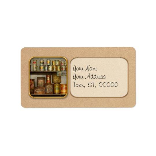 Kök - mat - sidodisk adressetikett
