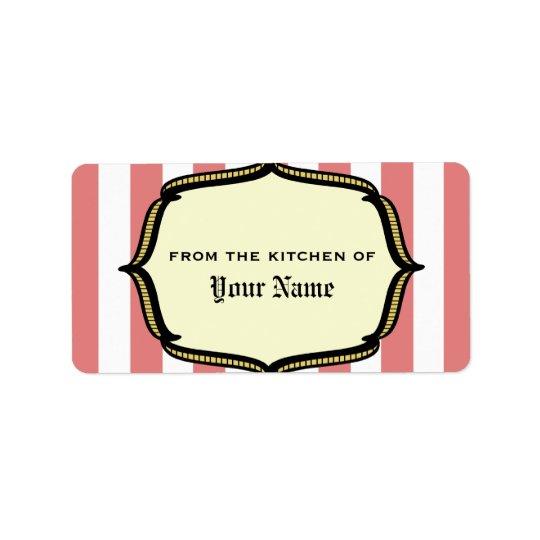 Köketikett - inspirerad vintagecirkus adressetikett
