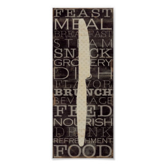 Kökknivar med ord poster