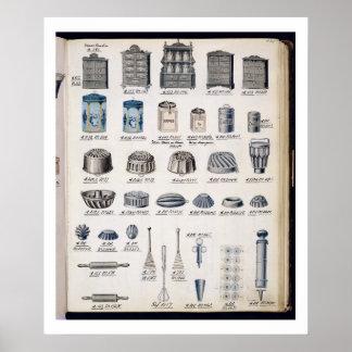 Köklagring och utensils från en handelcatalogu poster