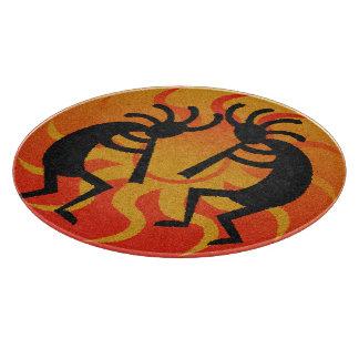 Kokopelli för svart och orange Southwest stam- sol