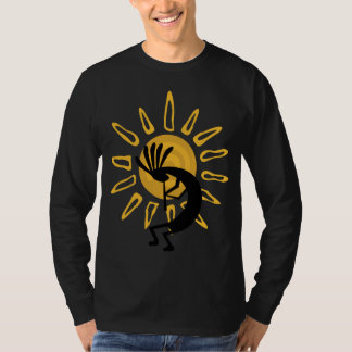Kokopelli guld- manar T-tröja för långärmad T-shirts