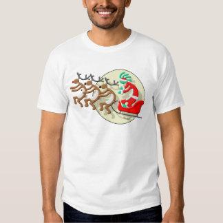 Kokopelli jultomten t shirts