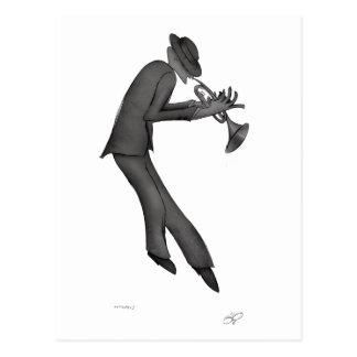 Kokopelli leker deppighetkonsten vykort