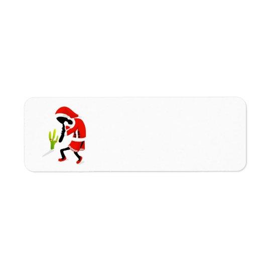 KokoSantapelli juletiketter Returadress Etikett