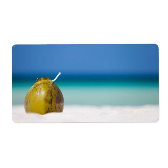 Kokosnöt på stranden fraktsedel
