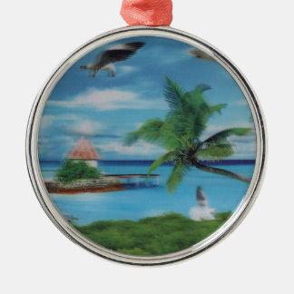 Kokosnötpalmträd beach.jpg julgransprydnad metall