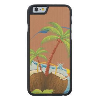 Kokosnötter Carved Lönn iPhone 6 Skal