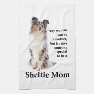 Kökshandduk för blåttMerle Sheltie mamma