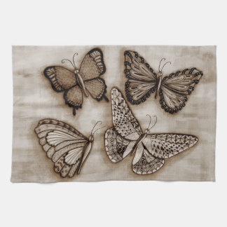 Kökshandduk för fyra fjärilar