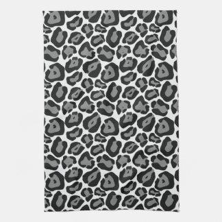 Kökshandduk för mönster för snöLeopard