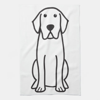 Kökshandduk för tecknad för hund för Labrador