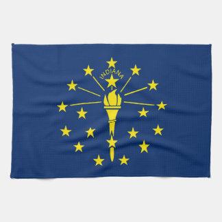 Kökshandduk med flagga av Indiana, USA