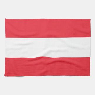 Kökshandduk med flagga av Österrike