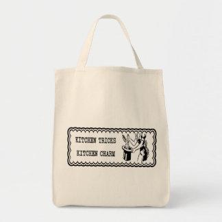 Köktrick - kökberlock Retro B&W Tote Bag