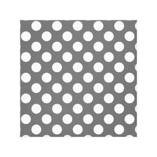 Kol- och vitpolka dots canvastryck