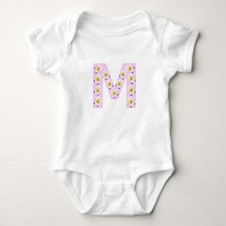 Kolarkub initialt M i rosor T-shirts