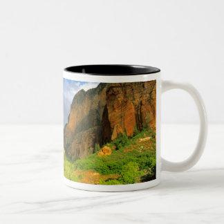 Kolob kanjon på den Zion kanjonen i den Zion Två-Tonad Mugg