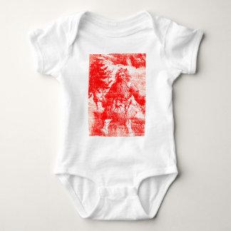 Kolonial jul röda Toile för vintagejultomten T Shirts