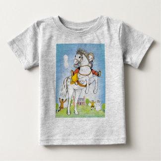Kolonial skjorta för pojkeridninghäst t shirt
