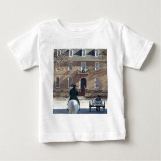 Kolonial Williamsburg man på häst T-shirt