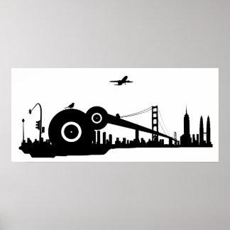 Kolossal affisch för Sparrowstadsflygplan - Poster