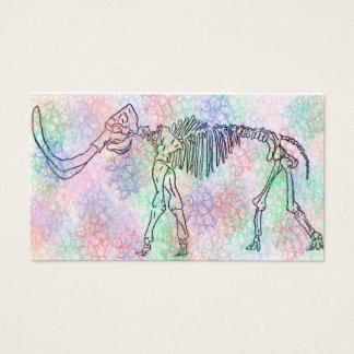 Kolossal skelett- akvarell visitkort