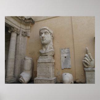 Kolossal staty av Constantine, Rome, 315-220 Poster
