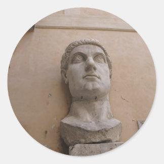 Kolossal staty av Constantine, Rome, CE. 315-220 Runt Klistermärke