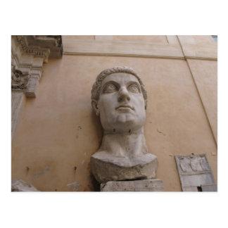 Kolossal staty av Constantine, Rome, CE. 315-220 Vykort