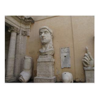 Kolossal staty av Constantine Vykort