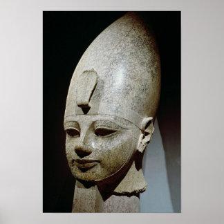 Kolossalt huvud av Amenhotep III, från al-Qurnah Poster
