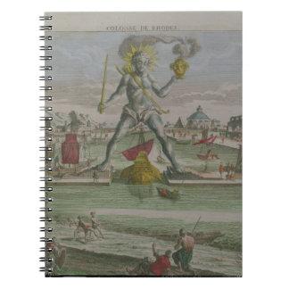 Kolossen av Rhodes, specificerar av statystraden Anteckningsbok Med Spiral