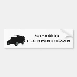 KolPowerd Hummer Bildekal