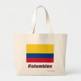 Kolumbien Flagge mit Namen Tote Bag