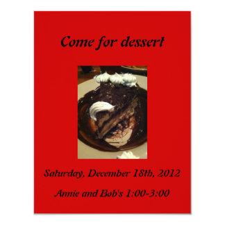 Kom för efterrättinbjudan med delectable choklad 10,8 x 14 cm inbjudningskort