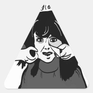 Kom in i min parlourspindelbaby… triangelformat klistermärke