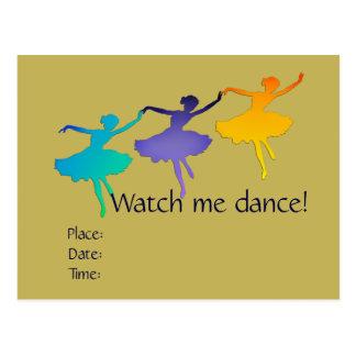 Kom och klocka mig dans (balett) vykort