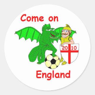 Kom på England Runt Klistermärke