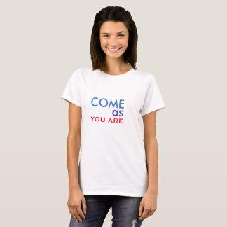 Kom, som du är t-shirts