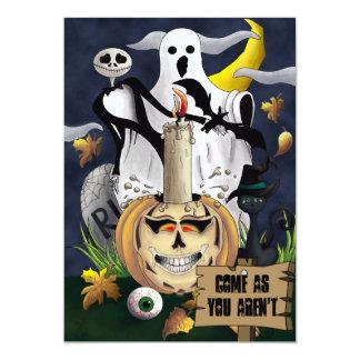 Kom, som du inte är den roliga halloween 12,7 x 17,8 cm inbjudningskort
