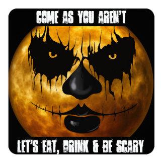 """""""Kom, som du inte är"""" halloween festinbjudan Fyrkantigt 13,3 Cm Inbjudningskort"""