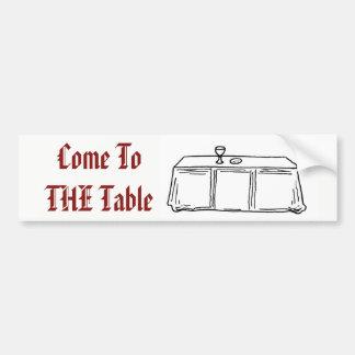 Kom till bordklistermärken bildekal
