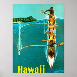 Kom till den Hawaii vintage affisch