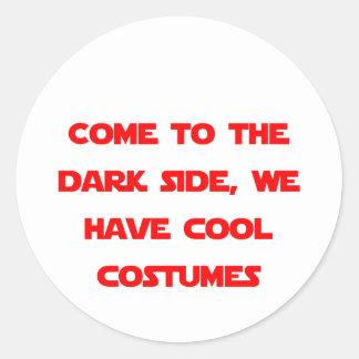 Kom till den mörka sidan runt klistermärke