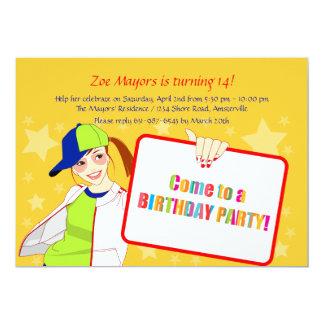 Kom till en födelsedagsfest 12,7 x 17,8 cm inbjudningskort