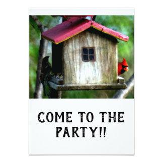 Kom till partyinbjudan 12,7 x 17,8 cm inbjudningskort
